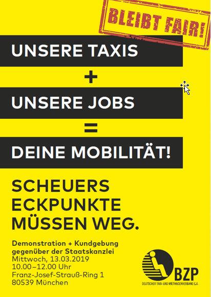 Taxi-Streik gegen UBER & Co